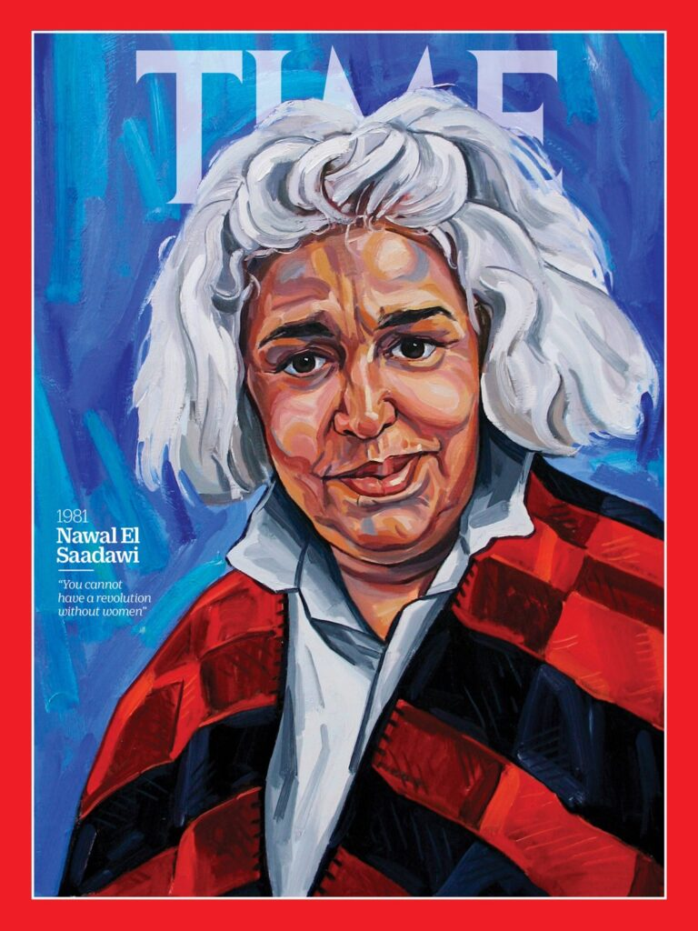 Nawal-El-Saadawi was chosen for the year 1981 in TIME's 100 Women of the Year project. Portrait by Sarah Jane Moon for TIME; Sueddeutsche Zeitung Photo/Alamy.