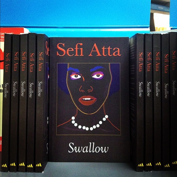 Copies of Sefi Atta's Swallow. Credit: The 37th State Online.