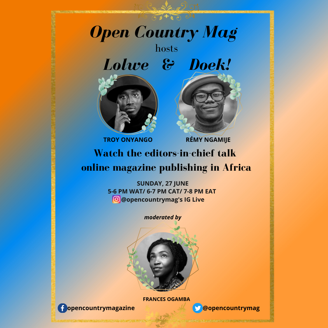 Open Country Mag Hosts Lolwe and Doek!
