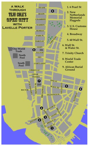 Literary Tour Map of Open City by Lavelle Porter