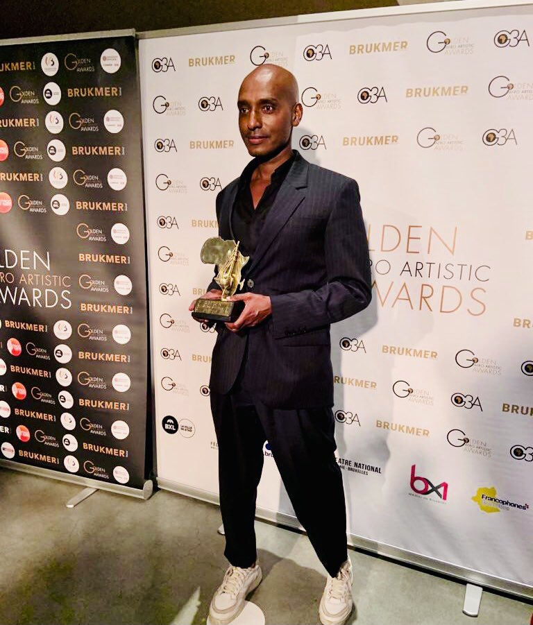 Sulaiman Addonia at the Golden Afro Artistic Awards 2021.