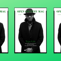 Teju Cole - Open Country Mag Cover
